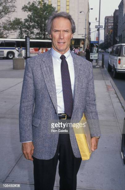 Clint Eastwood during Press Conference for 'Bird' September 26 1988 at Lincoln Center in New York City New York United States
