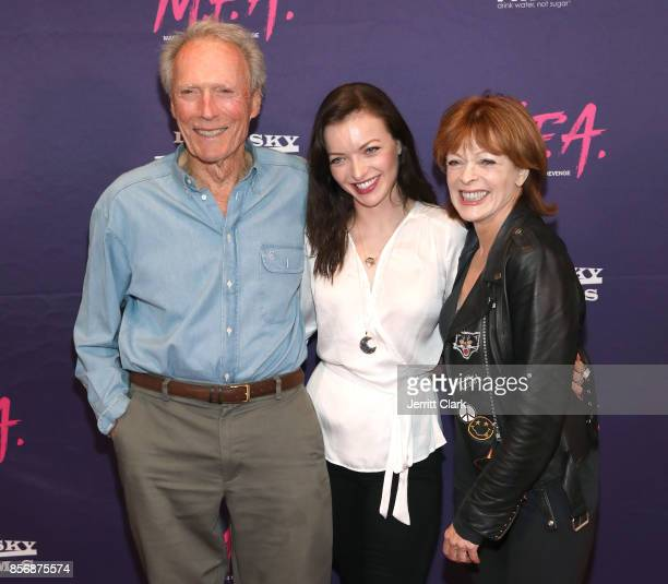 Clint Eastwood Francesca Eastwood and Frances Fisher attend the Premiere Of Dark Sky Films' MFA at The London West Hollywood on October 2 2017 in...