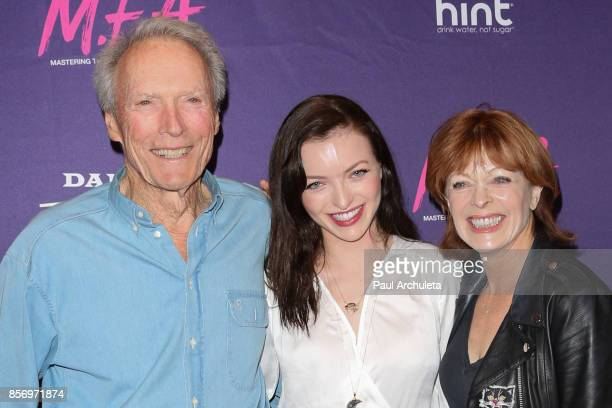 Clint Eastwood Francesca Eastwood and Frances Fisher attend the premiere of Dark Sky Films' 'MFA' at The London West Hollywood on October 2 2017 in...
