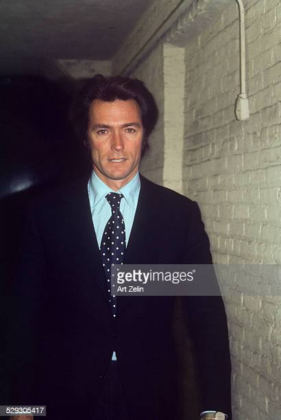 Clint Eastwood in a suit and tie circa 1970 New York