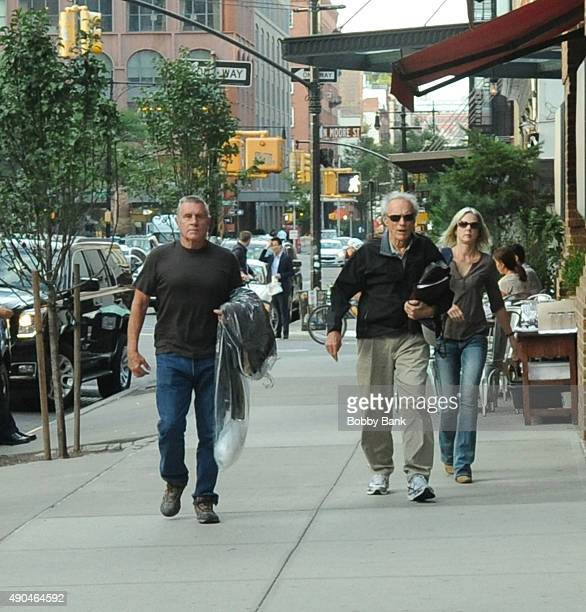 Clint Eastwood is seen in Tribeca on September 28 2015 in New York City