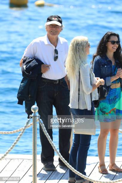 Clint Eastwood is spotted during the 70th annual Cannes Film Festival at on May 21 2017 in Cannes France
