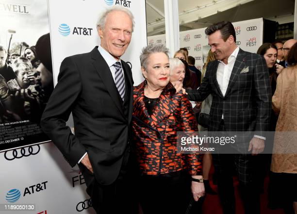 Clint Eastwood Kathy Bates Barbara Bobi Jewell and Jon Hamm attend the Richard Jewell premiere during AFI FEST 2019 Presented By Audi at TCL Chinese...