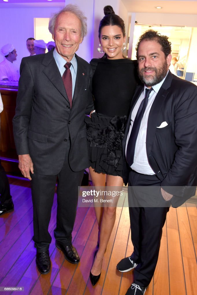 Clint Eastwood, Kendall Jenner, and Brett Ratner attend the Vanity Fair and Chopard Party celebrating the Cannes Film Festival at Hotel du Cap-Eden-Roc on May 20, 2017 in Cap d'Antibes, France.