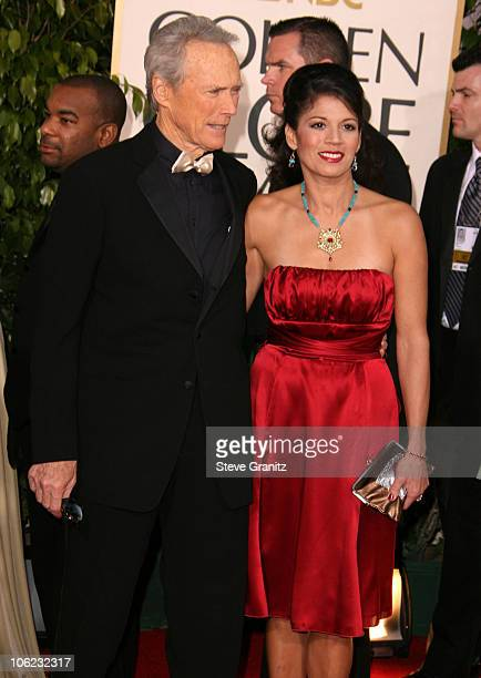Clint Eastwood nominated Best Director For Flags of Our Fathers and Letters from Iwo Jima and wife Dina Eastwood
