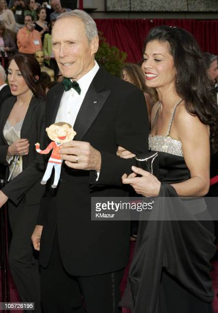 Clint Eastwood nominee Best Actor in a Leading Role winner Best Director and Best Picture for Million Dollar Baby and Dina Eastwood