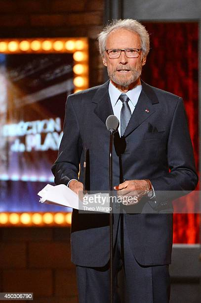 Clint Eastwood speaks onstage during the 68th Annual Tony Awards at Radio City Music Hall on June 8 2014 in New York City