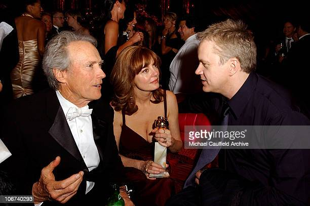 Clint Eastwood Susan Sarandon and Tim Robbins during The 61st Annual Golden Globe Awards InStyle/ Warner Bros Golden Globe After Party Inside at Palm...