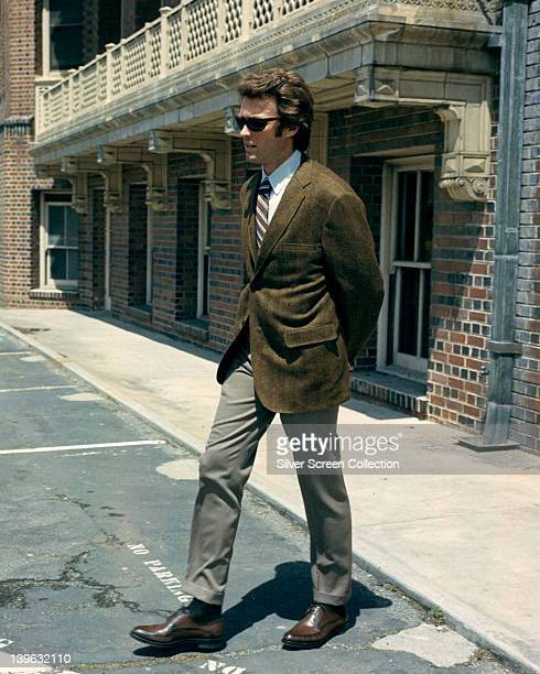 Clint Eastwood US actor wearing sunglasses in a publicity still from the film 'Dirty Harry' USA 1971 The 1971 thriller directed by Don Siegel starred...