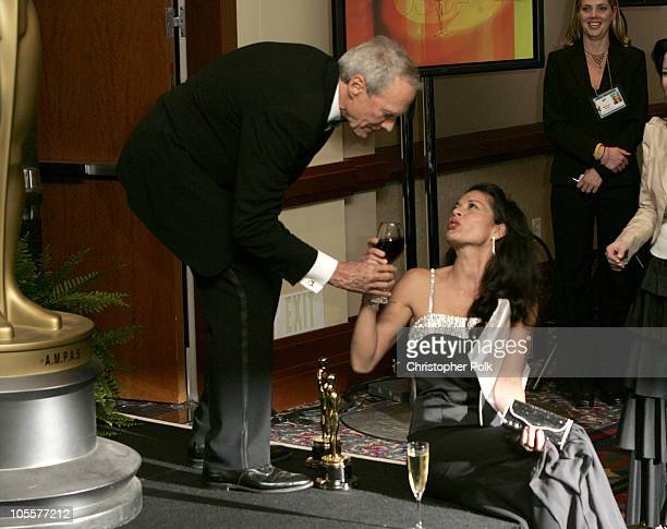 Clint Eastwood winner Best Picture and Best Director for Million Dollar Baby and wife Dina Eastwood