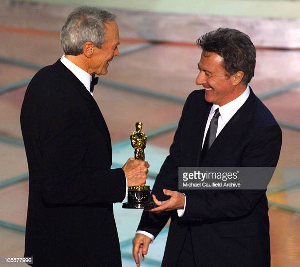 Clint Eastwood winner Best Picture for 'Million Dollar Baby' with Dustin Hoffman presenter