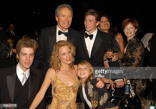 Clint Eastwood Winner of the Lifetime Achievement Award Alison Eastwood Frances Fisher and family