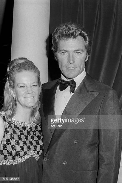 "Clint Eastwood with his wife Maggie Johnson at a movie event for ""Paint Your Wagon""; circa 1970; New York."