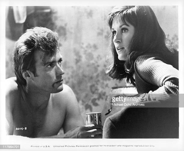 Clint Eastwood with Susan Clark in a scene from the film 'Coogan's Bluff' 1968