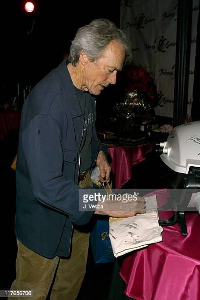 Clint Eastwood with Weber Q during 2004 Screen Actors Guild Awards Backstage Creations Day One at The Shrine Auditorium in Los Angeles California...