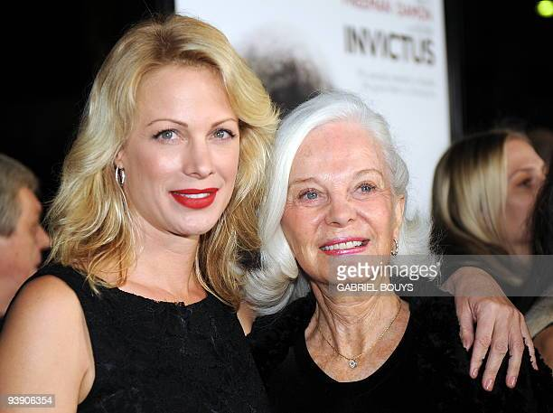 "Clint Eastwood's daughter, director Alison Eastwood arrives with her mother Maggie Johnson at the premiere of ""Invictus"" in Beverly Hills, California..."