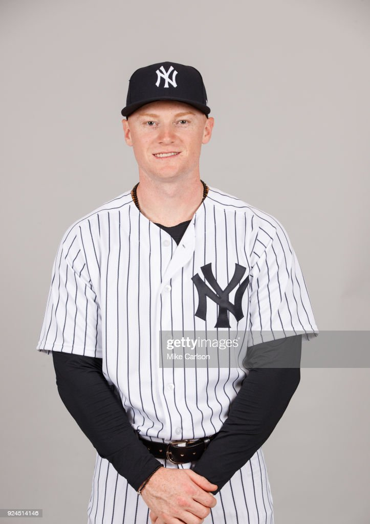 Clint Frazier #77 of the New York Yankees poses during Photo Day on Wednesday, February 21, 2018 at George M. Steinbrenner Field in Tampa, Florida.