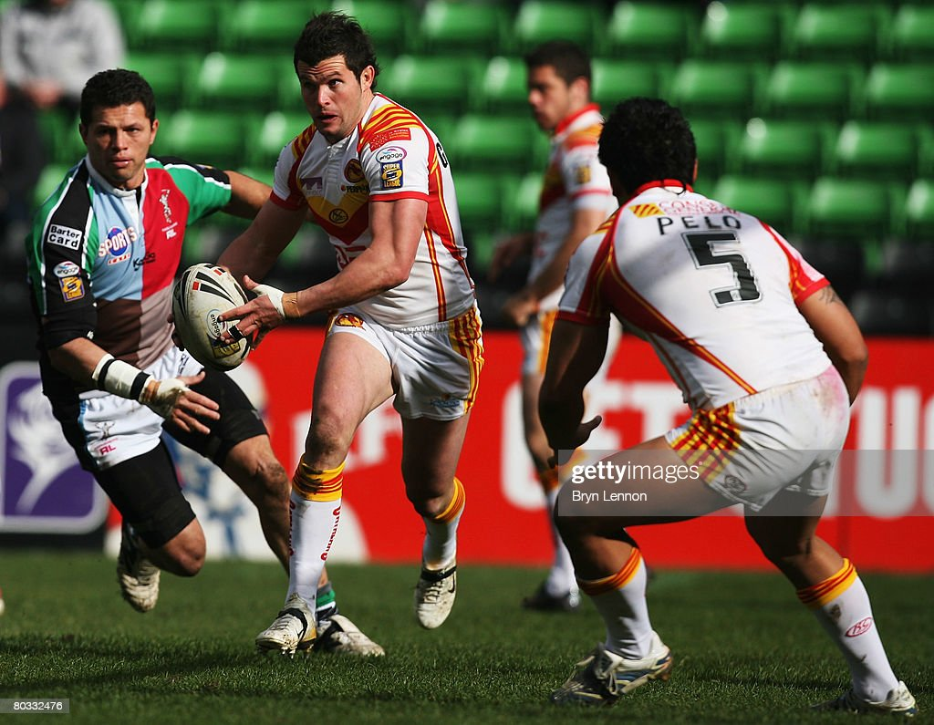 Clint Greenshields of the Catalan Dragons in action during the engage Super League match between Harlequins RL and Catalan Dragons at The Stoop on March 21, 2008 in Twickenham, England.