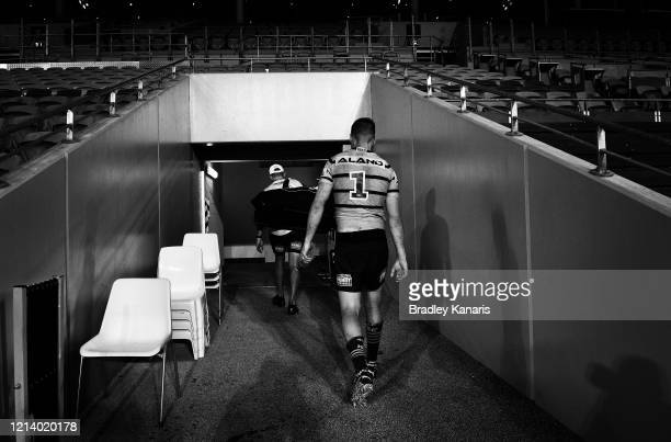 Clint Gutherson of the Eels walks from the field after the round 2 NRL match between the Gold Coast Titans and the Parramatta Eels at Cbus Super...