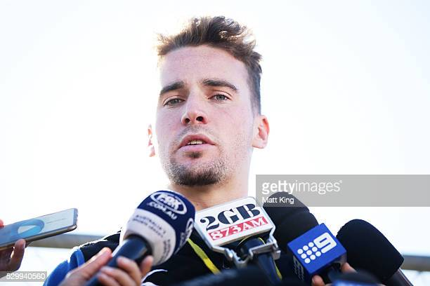 Clint Gutherson speaks to the media during a Parramatta Eels NRL Media Opportunity at the Eels Training Centre on May 10 2016 in Sydney Australia