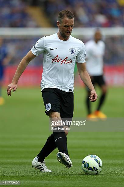 Clint Hill of QPR in action during the Premier League match between Leicester City and Queens Park Rangers at The King Power Stadium on May 24 2015...