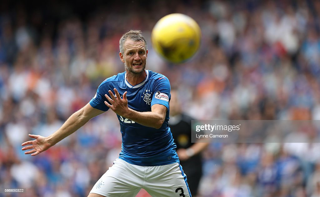 Clint Hill of Rangers during the Ladbrokes Scottish Premiership match between Rangers and Hamilton Academical at Ibrox Stadium on August 6, 2016 in Glasgow, Scotland.