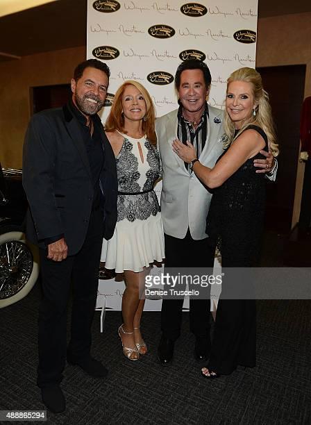 Clint Holmes Kelly Clinton Wayne Newton and Kathleen McCrone Newton attend the VIP opening of Casa De Shenandoah on September 17 2015 in Las Vegas...
