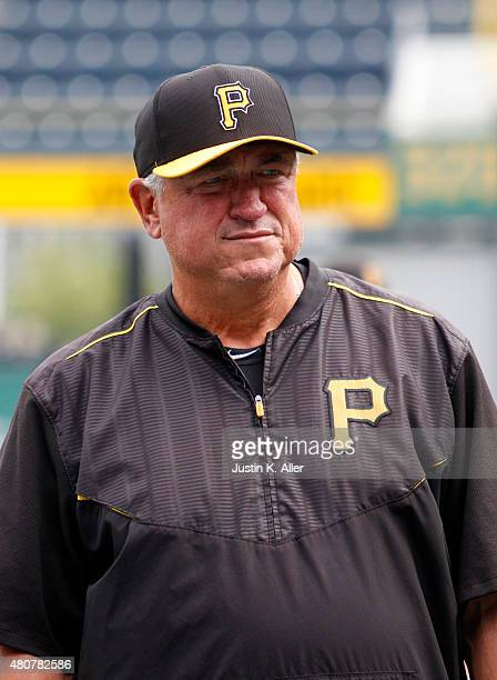 Clint Hurdle of the Pittsburgh Pirates looks on before the game against the St Louis Cardinals at PNC Park on July 10 2015 in Pittsburgh Pennsylvania