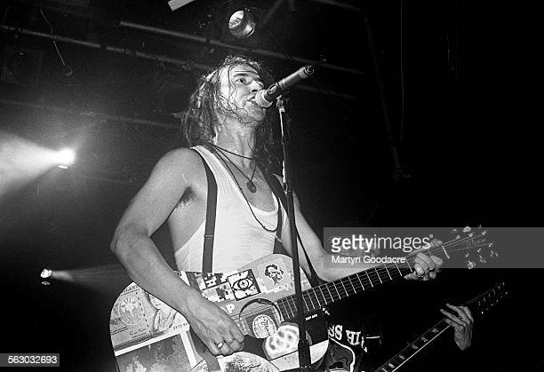 Clint Mansell of Pop Will Eat Itself performs on stage at Heaven London United Kingdom 1995
