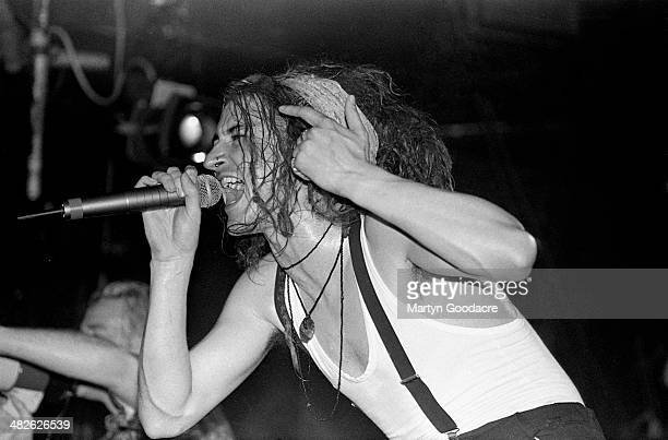 Clint Mansell performs on stage with Pop Will Eat Itself at Heaven, London, United Kingdom, 1995.