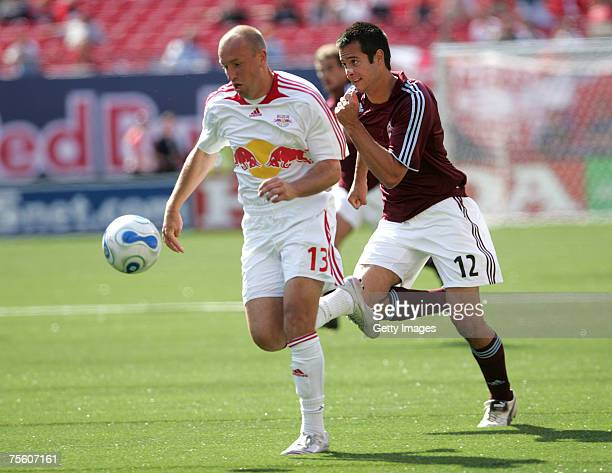 Clint Mathis of the New York Red Bulls bplays the ball at Giants Stadium in the Meadowlands on MAY 13, 2007 in East Rutherford, New Jersey.