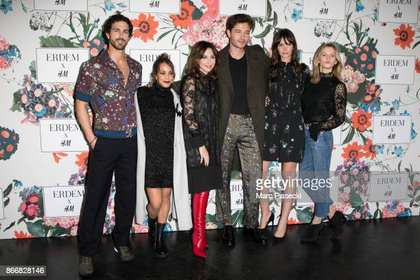 Clint Mauro Alice Belaidi Elsa Zylberstein Francisco Lachowski Jessianne Lachowski and Margot Bancilhon attend the 'ERDEM X HM' Paris Collection...