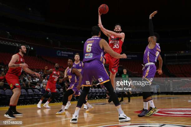 Clint Steindl of the Wildcats puts a shot up during game three of the NBL Grand Final series between the Sydney Kings and Perth Wildcats at Qudos...