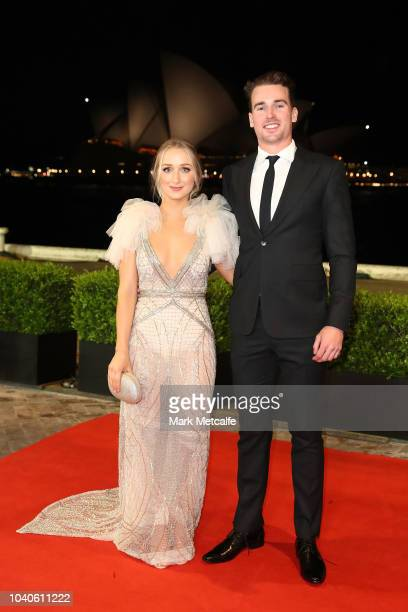 Clinton Gutherson and Jesse Arena arrive at the 2018 Dally M Awards at Overseas Passenger Terminal on September 26 2018 in Sydney Australia