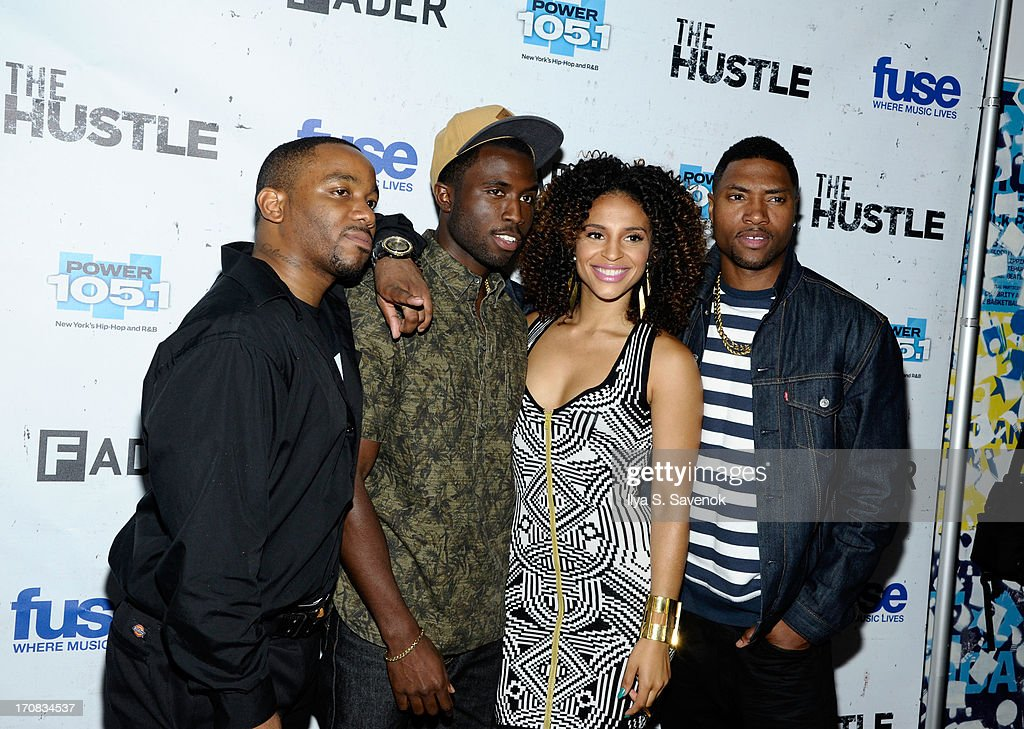 Clinton Lowe, Y'Lan Noel, Erica Dickerson and London Brown attend Fuse's screening of 'The Hustle' at Converse Rubber Tracks Studio on June 18, 2013 in the Brooklyn borough of New York City.