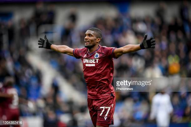 Clinton Mata defender of Club Brugge during the Jupiler Pro League match between KRC Genk and Club Brugge KV on March 01 2020 in Genk Belgium