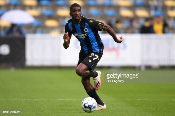 Clinton Mata of Club Brugge during the Jupiler Pro League match between Union Saint Gilloise and Club Brugge at Joseph Marien Stadion on August 1,...