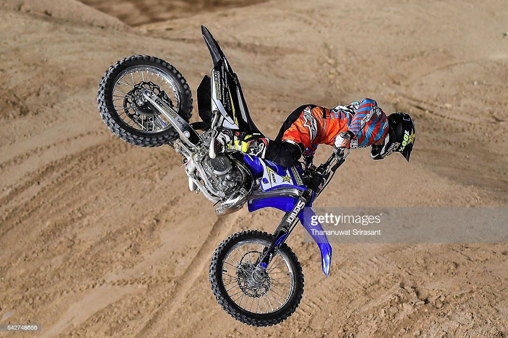 Clinton Moore of Australia competes during qualifying for Red Bull X Fighter on June 23, 2016 in Madrid, Spain.