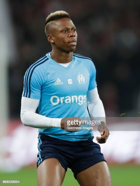 Clinton Mua Njie of Olympique Marseille during the French League 1 match between Lille v Olympique Marseille at the Stade Pierre Mauroy on October 29...