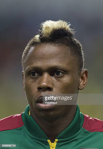 Clinton Njie of Cameroon during the Group A match between Burkina Faso v Cameroon at Stade de L'Amitie on January 14 2017 in Libreville Gabon