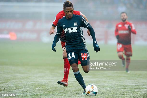 Clinton NJIE of Marseille during the French Ligue 1 between Dijon and Marseille at Stade Gaston Gerard on December 10 2016 in Dijon France