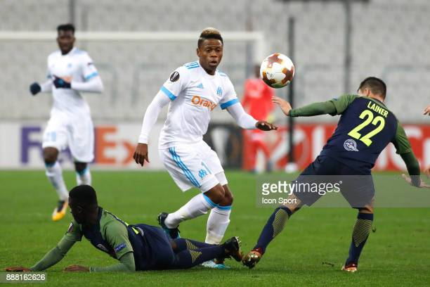 Clinton NJie of Marseille during the Uefa Europa League match between Olympique de Marseille and Red Bull Salzburg at Stade Velodrome on December 7...