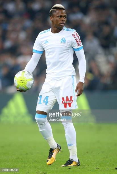 Clinton Njie of OM during the French Ligue 1 match between Olympique de Marseille and Toulouse FC at Stade Velodrome on September 24 2017 in...