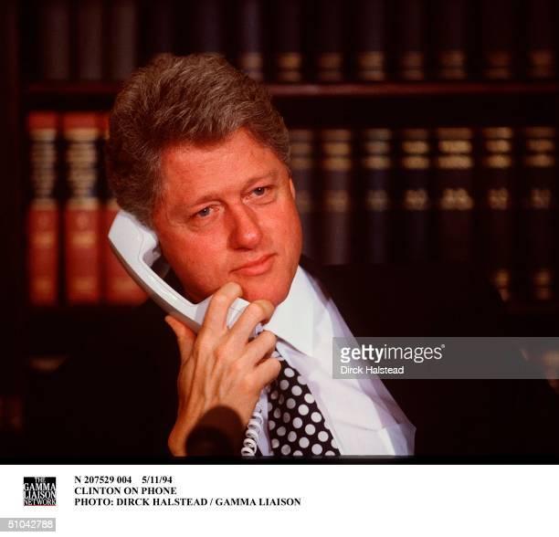 Clinton On Phone