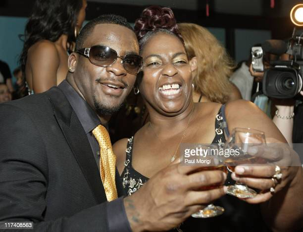 Clinton Portis and Rhonnel Hearn during Washington Redskins Runningback Clinton Portis' 25th Birthday Party at Silver Spring Gallery in Silver Spring...