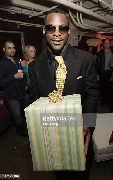 Clinton Portis during Washington Redskins Runningback Clinton Portis' 25th Birthday Party at Silver Spring Gallery in Silver Spring Maryland United...