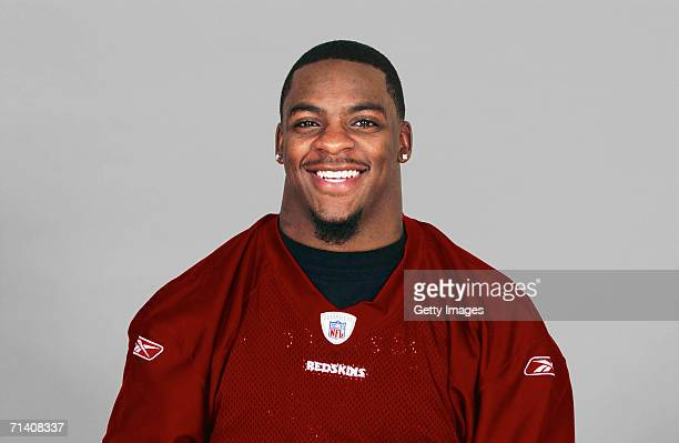 Clinton Portis of the Washington Redskins poses for his 2006 NFL headshot at photo day in Landover Maryland