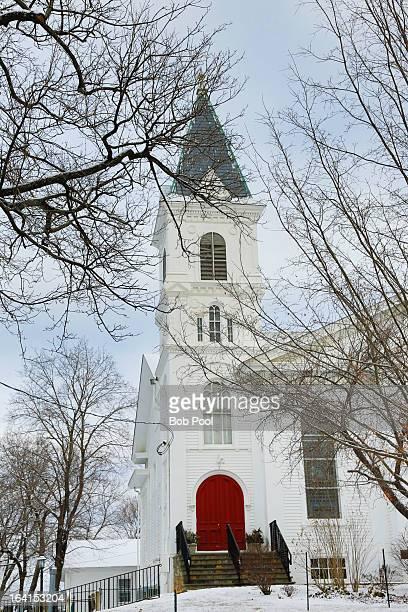 clinton presbyterian church, nj - presbyterianisme stockfoto's en -beelden