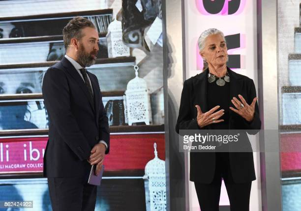 Clinton Smith and Ali MacGraw speak onstage at Hearst Magazines' Unbound Access MagFront at Hearst Tower on October 17 2017 in New York City