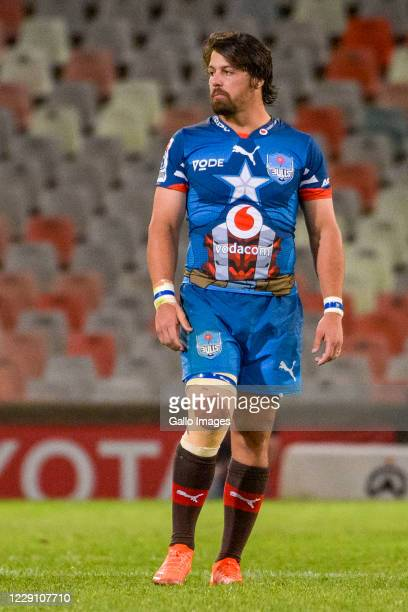 Clinton Swart of Vodacom Bulls during the Super Rugby Unlocked match between the Toyota Cheetahs and Vodacom Bulls at Toyota Stadium on October 16...
